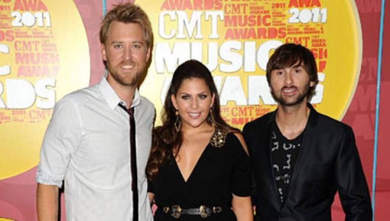 Lady Antebellum arrive at the 2011 CMT Music Awards in Nashville.