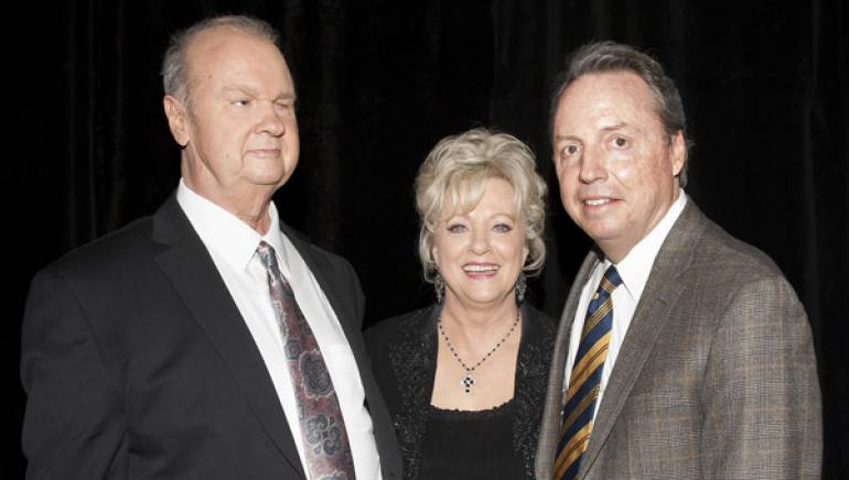 "Pictured at the announcement of the Country Music Hall of Fame's 2012 class are inductees Hargus ""Pig"" Robbins and Connie Smith, with BMI's Jody Williams."
