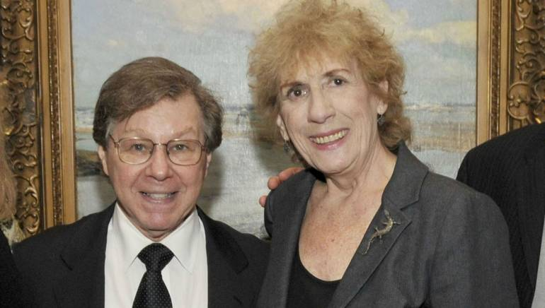Jean Banks with longtime friend Tony Award-winning composer Maury Yeston