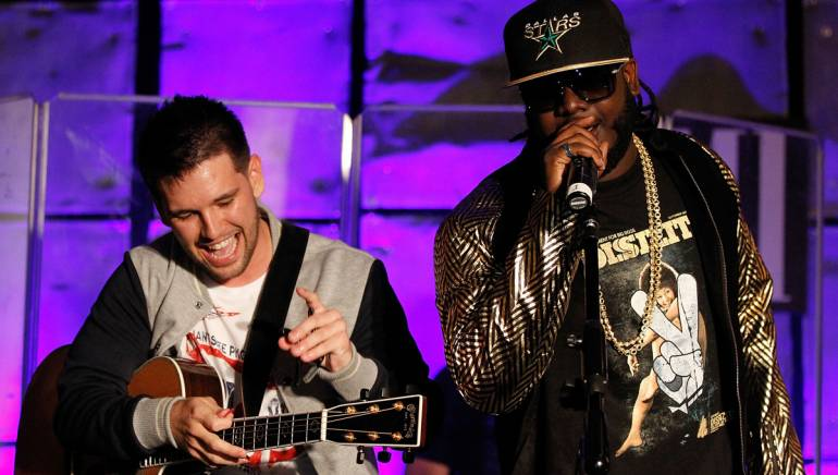 Shay Mooney and T-Pain perform at BMI Presents: Live From Loews, held April 26 in Atlanta.
