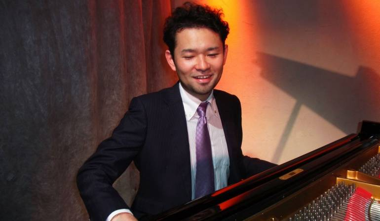 Yusuke Nakamura celebrates winning the Composer's Prize at the annual Thelonious Monk International Jazz Competition.