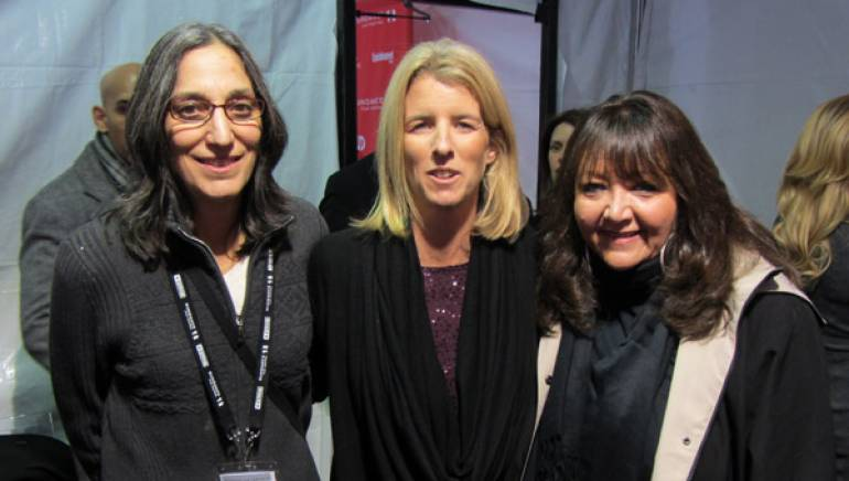 Composer Miriam Cutler, director Rory Kennedy, and BMI's Doreen Ringer Ross celebrate the premiere of <em>Ethel</em>.