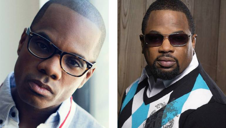 Pictured are Kirk Franklin and Hezekiah Walker