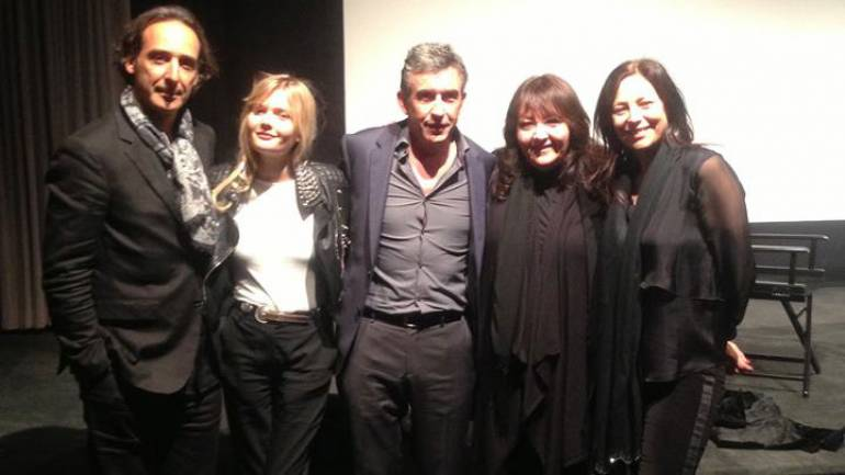 Pictured at the Weinstein Company's screening of <em>Philomena</em> are (L-R): composer Alexandre Desplat, actress Sophie Kennedy Clark, actor/writer Steve Coogan, BMI's Doreen Ringer-Ross and Kraft - Engel Management's Laura Engel.