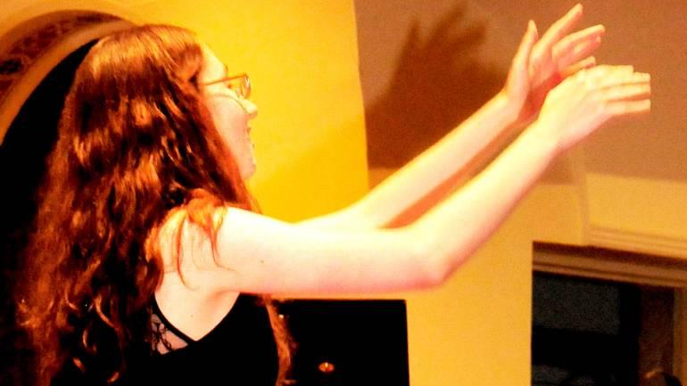 Charlie Parker Jazz Composition Prize winner Erica Seguine conducts the BMI/New York Jazz Orchestra.