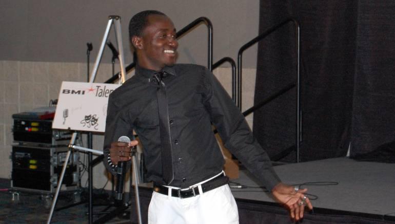 Pictured: BMI Talent Showcase winner Eric Ackaah