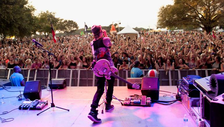 Pictured: Cherub performing on Saturday, October 12, 2013, on the BMI stage at the Austin City Limits Festival.