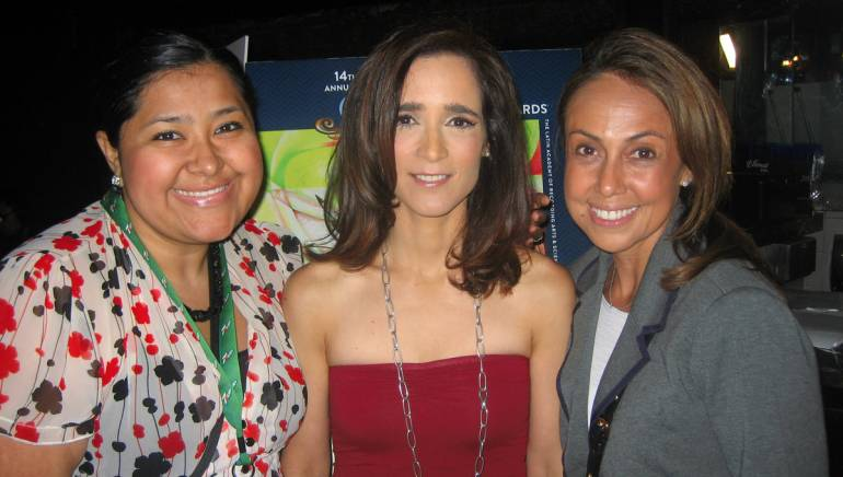 Pictured at the press conference for the 14th Annual Latin GRAMMY Awards nominations are (L-R): BMI Director, Latin Writer/Publisher Relations Marissa Lopez; BMI singer-songwriter Julieta Venegas, who received a nod for Best Contemporary Pop Vocal Album for Los Momentos and BMI Vice President, Latin Writer/Publisher Relations Delia Orjuela.