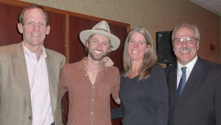 Pictured after the performance (left to right): BMI's Dan Spears, Paul McDonald, MEIA Board Chair and Emerald Hospitality Associates Director of Sales & Marketing Jeanne Carpentier, MEIA Executive Director Greg Dugal.