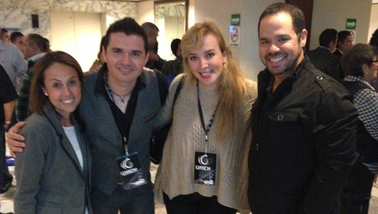 Pictured at the 2013 Monitor Latino conference in Mexico City are (L-R): BMI's Delia Orjuela, BMI songwriters Horacio Palencia and Angela Dávalos, BMI's Joey Mercado.