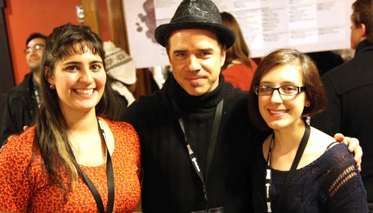 BMI's <em>Bible Quiz</em> composer Christopher North with director Nicole Teeny and main character Mikalya Irle