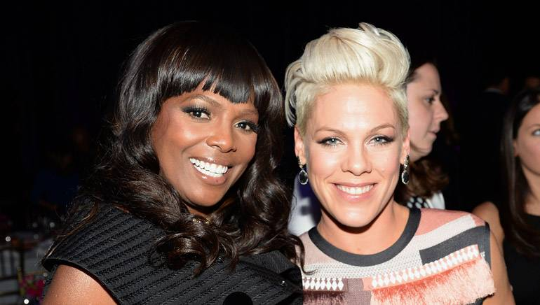 Pictured: BMI's Catherine Brewton with P!nk