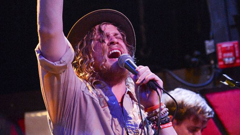 ATO Records' artist Allen Stone performs at BMI Presents at Rockwood Music Hall on August 2 in New York.
