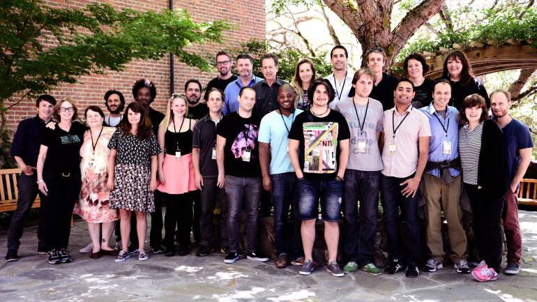 Lab fellows, creative advisors and program staff pictured at the Sundance Institute Music and Sound Design Labs at Skywalker Sound.