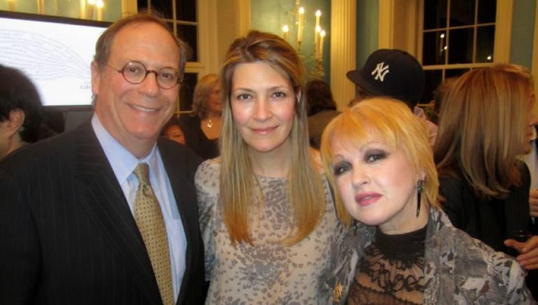 Pictured: BMI's Charlie Feldman, Samantha Cox and BMI songwriter/artist Cyndi Lauper.