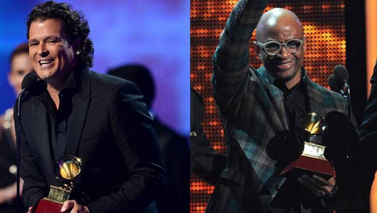 Pictured L-R: Carlos Vives and Sergio George