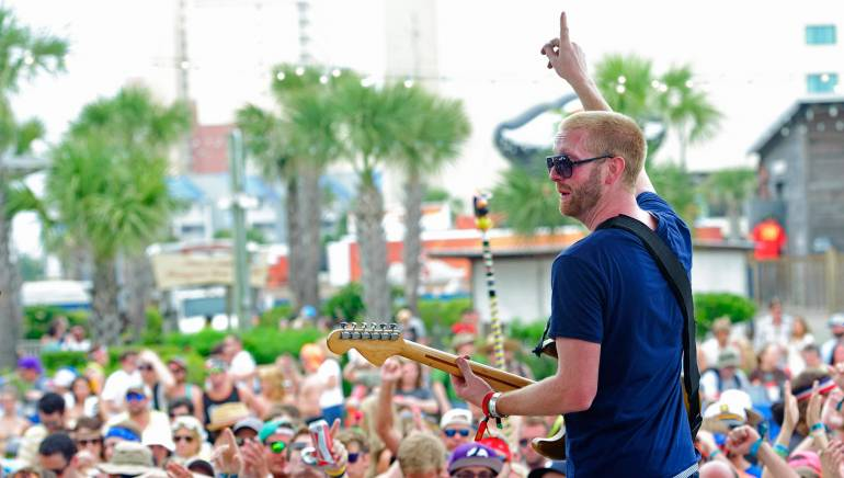 Aaron Winters of Space Capone performs on the BMI stage at Hangout Music Fest on Sunday, May 19, 2013, in Gulf Shores, AL.