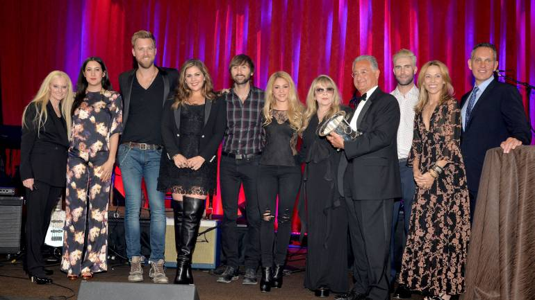 BMI Vice President & General Manager, Writer/Publisher Relations, Los Angeles, Barbara Cane; Vanessa Carlton; Lady Antebellum;  Shakira;  BMI Icon Stevie Nicks; BMI President Del Bryant; Co-Songwriter of the Year winner Adam Levine; Sheryl Crow; and BMI CEO Mike O'Neill at the 62nd Annual BMI Pop Awards, held May 13, 2014 at the Beverly Wilshire Hotel in Beverly Hills.