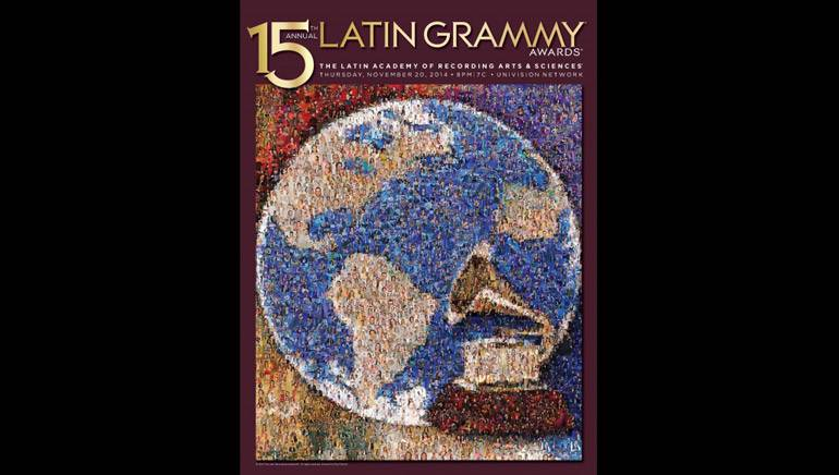 The official artwork for the 15th Annual Latin GRAMMY Awards, created by Roy Feinson.