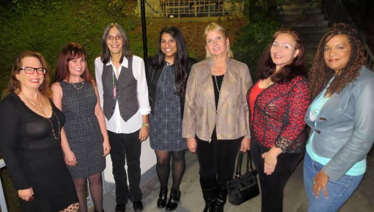 Pictured (L-R): BMI composer Laura Karpman, Deborah Lurie, BMI composer Miriam Cutler, BMI's Reema Iqbal, BMI composer Lolita Ritmanis, BMI composer Penka Kouneva and BMI composer Kathryn Bostic.
