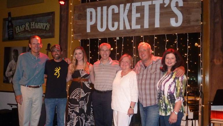 Pictured after the performance (l to r): BMI's Dan Spears, Clint Daniels, Kylie Sackley, BMI's Mike Steinberg, CSRA President and Arkansas Hospitality Association Executive Director Montine McNulty, Phillip White, BMI's Jessica Frost.