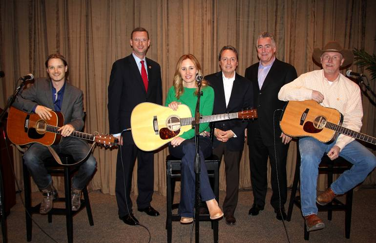 Pictured L-R at Nashville's First Amendment Center are: songwriter Josh Kear, Rep. Doug Collins, songwriter Jessi Alexander, BMI's Jody Williams and Richard Conlon, and BMI songwriter Wynn Varble.