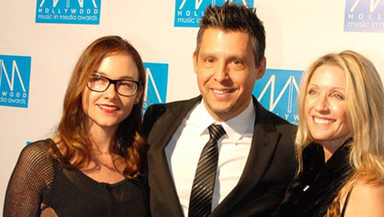 Pictured (L-R) at the 5th Annual Hollywood Music in Media Awards are: BMI's Lisa Feldman, nominated composer Juan Carlos Rodriguez and agent Rochelle Sharpe of Incite Management.
