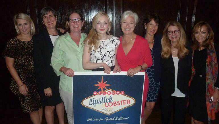 Pictured after her performance (left to right): BMI's Pamela Williams, BMI's Kerri Howland-Kruse, BMI's Alison Smith, Emily Kinney, Alliance for Women in Media National Chair Kay Olin, Beasley Broadcast Group Vice President of Corporate Communications Denyse Mesnik, Radio Advertising Bureau President/CEO Erica Farber and Beasley Broadcast Group Executive Vice President Caroline Beasley.