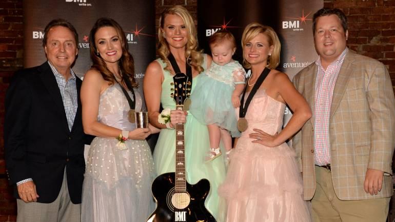 Pictured L-R at Miranda Lamberts sock-hop party are: BMI's Jody Williams, BMI co-writers Natalie Hemby and Nicolle Galyon, Miranda Lambert and BMI's Bradley Collins.