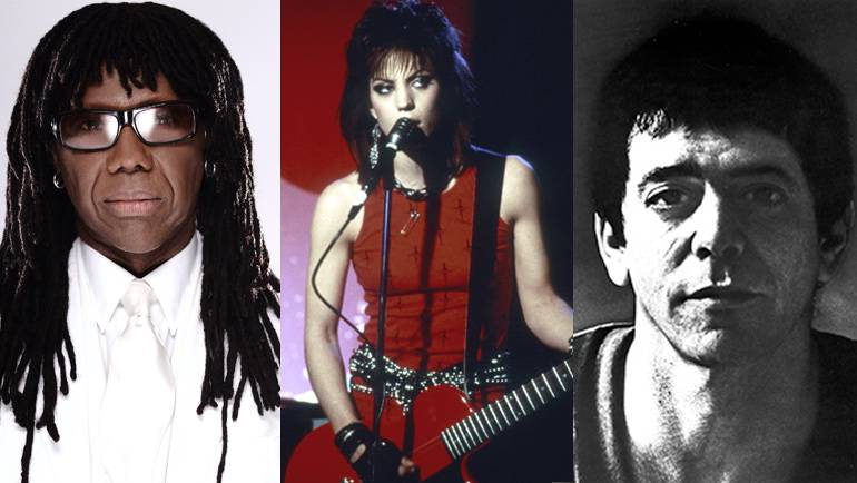Pictured: Nile Rodgers, Joan Jett and Lou Reed