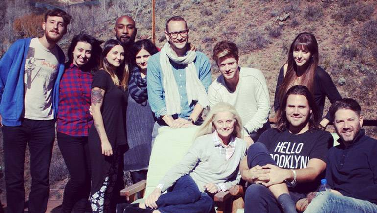 "Photo (L–R): Back row — Danny Parker, Denise Rich Songs' Leyla Kuday, Julia Michaels, Breyan Isaac, Ilsey Juber, Andreas ""Axident"" Schuller, Nash Overstreet and BMI's Jessa Gelt. Front row — BMI's Barbara Cane, Jason Evigan and BMG's Andrew Gould at the sixth annual songwriter retreat in Aspen, Colo., co-hosted by BMI and Denise Rich Songs."