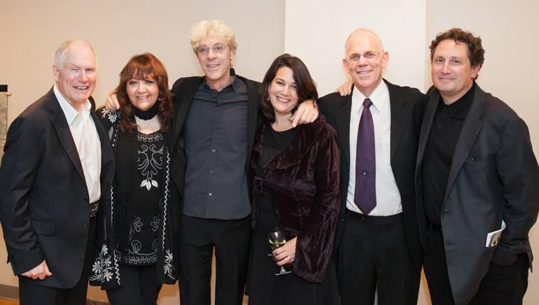 Pictured (L–R): Executive producer Derek Power; BMI's Doreen Ringer-Ross; BMI composer Stewart Copeland; Music Sales' Peggy Monastra; conductor Richard Kaufman and Opus 3 Artists agent Neil Benson.