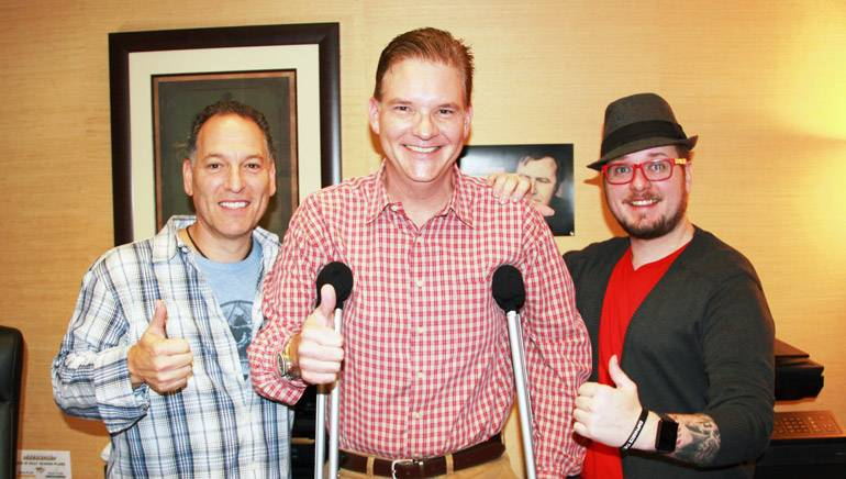 Pictured: (L-R) BMI songwriter Jon D'Agostino, BMI's Perry Howard, songwriter Adam Searan