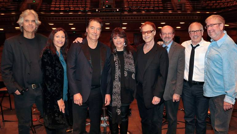 Pictured (L–R): BMI composer and orchestrator Steve Bartek; agent Laura Engel; BMI composer and conductor David Newman; BMI's Doreen Ringer-Ross; BMI composer Danny Elfman; journalist and panel moderator Jon Burlingame; sound engineer and mixer Dennis Sands and agent Richard Kraft at The Elfman Project III event on Sunday, November 23, 2014 at the University of California, Los Angeles' Royce Hall.