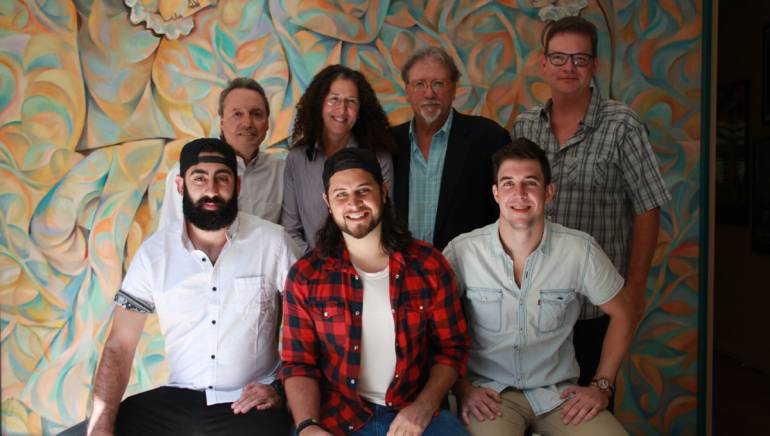 Pictured: (L-R) Front row: The Lookout Music's Chase Lauer, BMI affiliate Tyler Filmore, The Lookout Music's John Gurney. (Back row) BMI's Jody Williams, Adams and Reese attorney Linda Edell Howard, Vandermont Music Group's Doug Howard, BMI's Perry Howard.