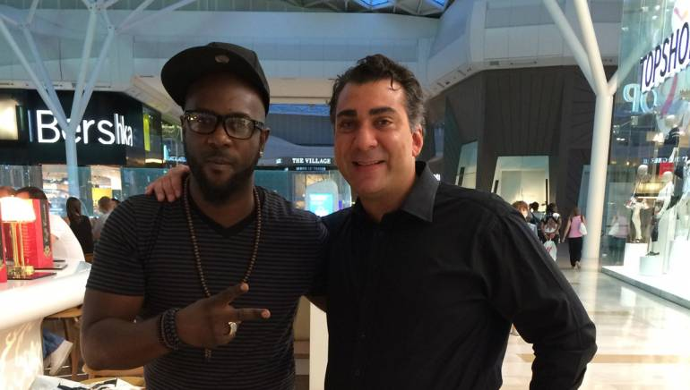 Pictured: Bunji Garlin with BMI's Executive Director of Writer/Publisher Relations for Europe and Asia Brandon Bakshi.