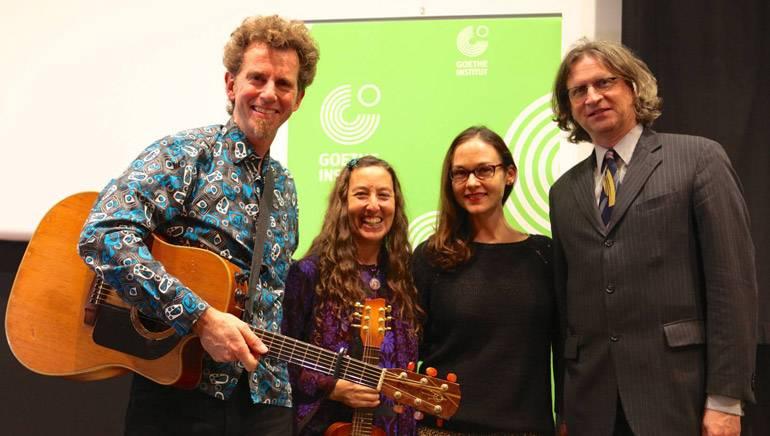 Pictured L-R: Director/Composer Michael Glover, Producer/Composer Robyn Rosenkrantz, BMI's Lisa Feldman and Deputy Consul General of Germany Stefan Biedermann.