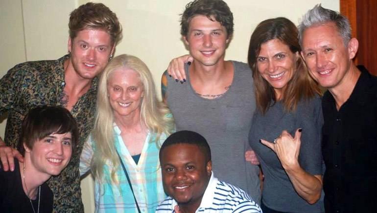 "Pictured at the Kauai Music Festival (L–R): Jamie Follesé, Nash Overstreet, BMI's Barbara Cane, Ryan Follesé, BMI's Tracie Verlinde, Richard Harris and Marlin ""Hookman"" Bonds."