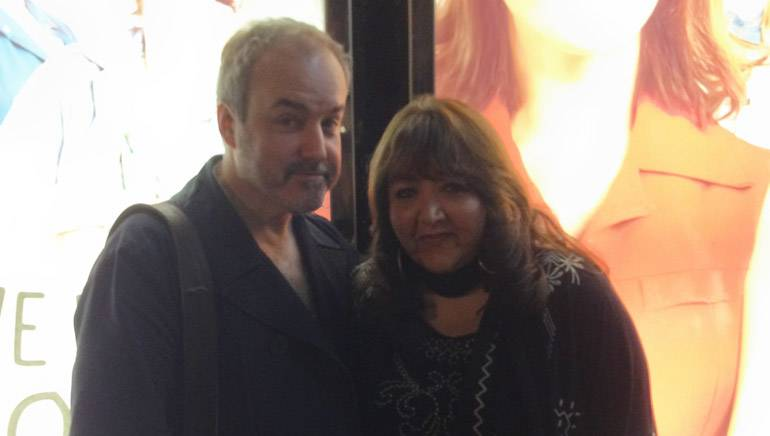 Pictured (L–R): BMI composer David Arnold and BMI's Doreen Ringer-Ross at a preview performance of 'Made in Dagenham' in London.