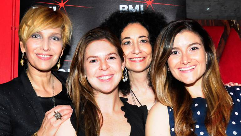 Cristina Morrison, BMI's Carolina Arenas, Eljuri, Laura Kalop at Rockwood Music Hall in honor of Mother's Day 2014