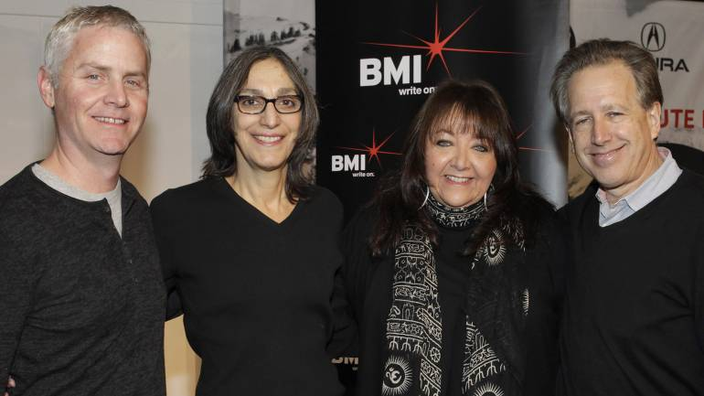 Pictured L-R at BMI's annual Composer/Director Roundtable are composer Blake Neeley, composer Miriam Cutler, BMI's Doreen Ringer-Ross, and composer Mark Golub