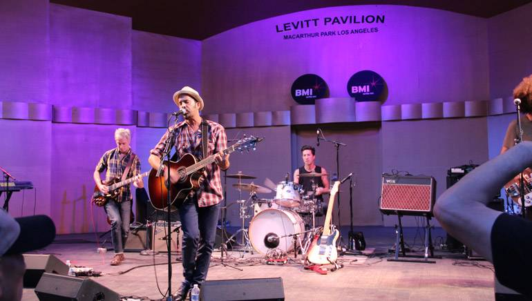 Elsten Torres performing his chart-topping hits at the BMI and Levitt Pavilion Summer Nights concert series on July 25 at MacArthur Park.