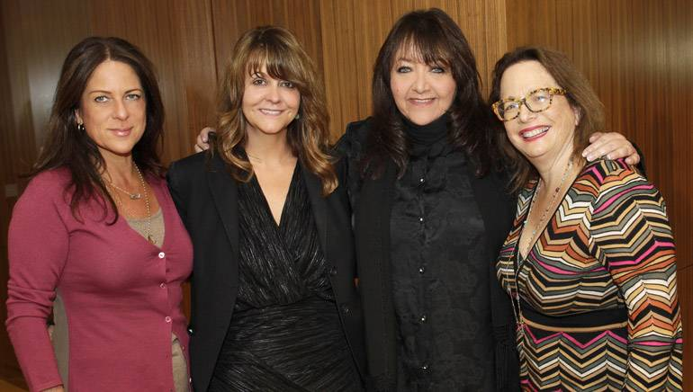 Pictured L-R are: Women In Film Board President Cathy Schulman, Women in Film Board member and music committee chair Tracy McKnight, BMI's Doreen Ringer-Ross and composer and Alliance of Women Film Composers steering committee member Laura Karpman.