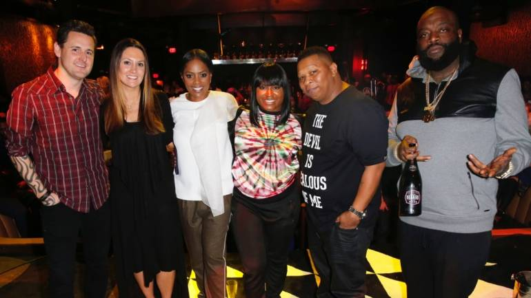 (L-R) Songwriter/Producer David Hodges, Songwriter Natalie Hemby, BMI Vice President, Writer/Publisher Relations, Atlanta Catherine Brewton, Singer/Songwriter Ester Dean, DJ Mannie Fresh and Rapper Rick Ross attend BMI How I Wrote That Song.