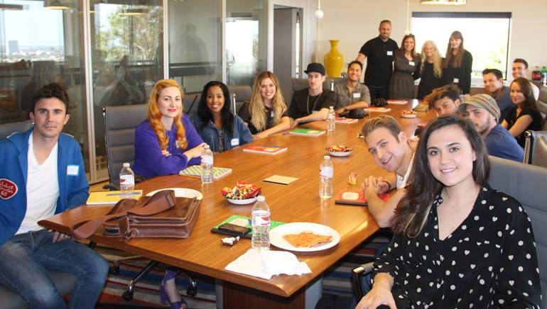 Songwriters, producers and artists gather in BMI's LA office for a speed dating songwriting session.