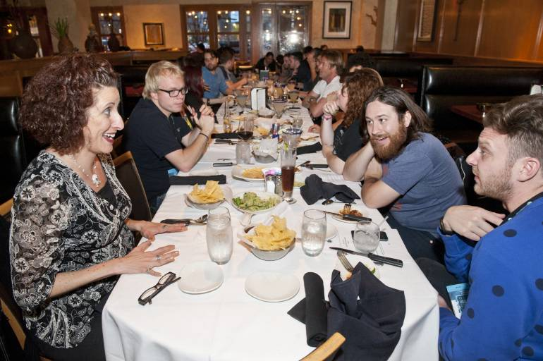 Guests enjoy dinner at Cantina Laredo during the SXSW Film Festival March 15, 2015, in Austin, TX.