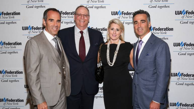 Pictured (L-R) at the luncheon are: Chairman and CEO of Republic Records, Monte Lipman; BMI's Charlie Feldman and Pamela Williams; and President and COO of Republic Records, Avery Lipman.