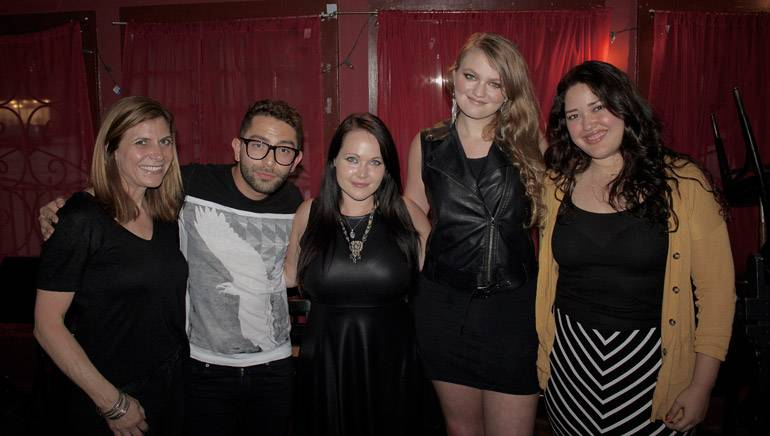 Pictured (L-R) at BMI's September Acoustic Lounge are: BMI's Tracie Verlinde, BMI songwriters Stefano Vieni, Sarah West and Kathryn Dean and BMI's Krystina DeLuna.