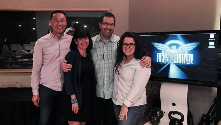 Pictured (L-R): BMI's Ray Yee, music supervisor Jen Ross, BMI composer Chris Lennertz and Kraft-Engel's Sarah Kovacs.