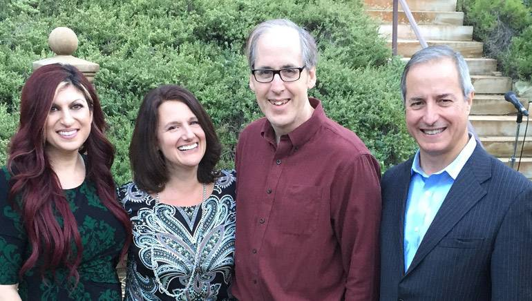 Pictured (L-R) are BMI's Anne Cecere, vocalist Joan Beal, BMI composer Jeff Beal and Eastman School of Music Dean Jamal J. Rossi.